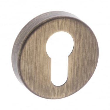 Forme Euro Escutcheon On Minimal Round Rose, Yester Bronze (FMREYB)