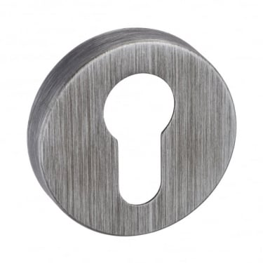 Forme Minimal Euro Escutcheon On Round Rose - Urban Graphite (FMREUG)