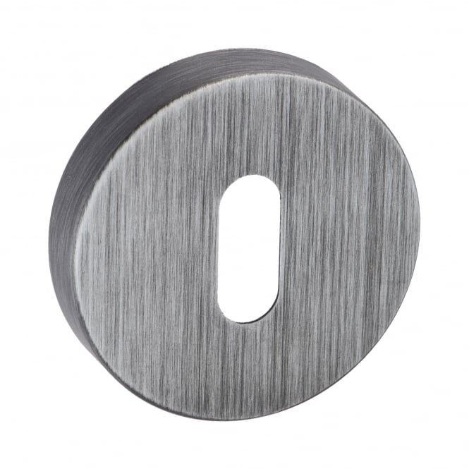 Atlantic Handles Forme Minimal Key Escutcheon On Round Rose - Urban Graphite (FMRKUG)