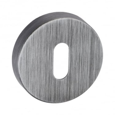 Forme Minimal Key Escutcheon On Round Rose - Urban Graphite (FMRKUG)