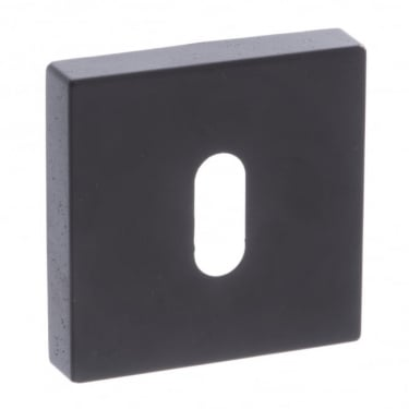 Forme Minimal Key Escutcheon On Square Rose - Matt Black (FMSKMB)