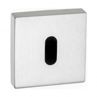 Forme Minimal Key Escutcheon On Square Rose - Polished Chrome (FMSKPC)