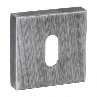 Forme Minimal Key Escutcheon On Square Rose - Urban Graphite (FMSKUG)
