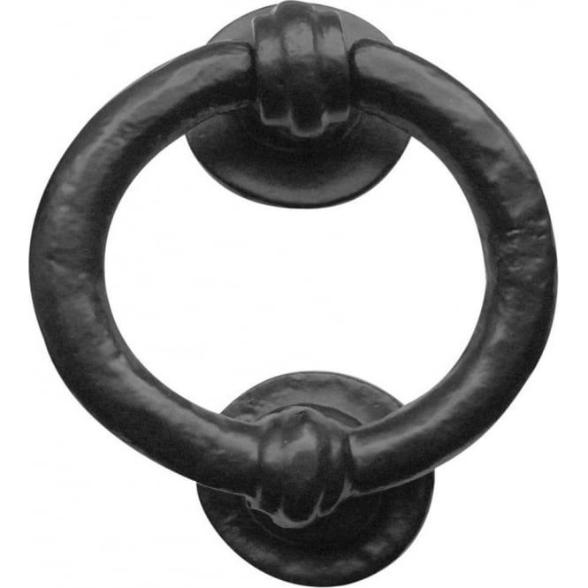 Frelan Hardware Antique Black Ring Door Knocker (JAB7)