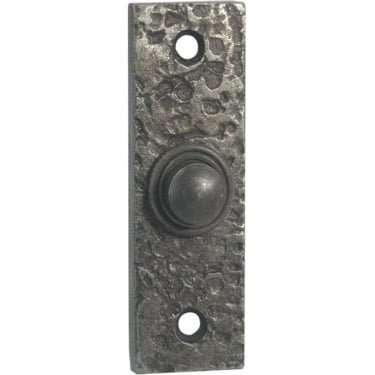 Antique Pewter Rectangular Bell Push (PEW118)