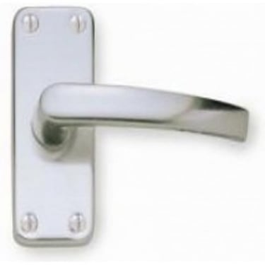 Contract Satin Anodised Aluminium Lever Latch On Short Backplate Handle (J5600)