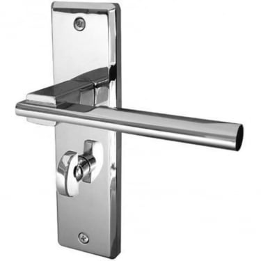 Delta Polished Chrome Bathroom Lever On Backplate Handle (JV3023PC)