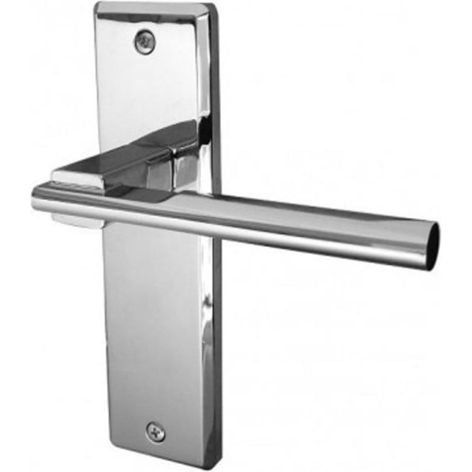 Frelan Hardware Delta Polished Chrome Lever Latch On Backplate Handle (JV3013PC)