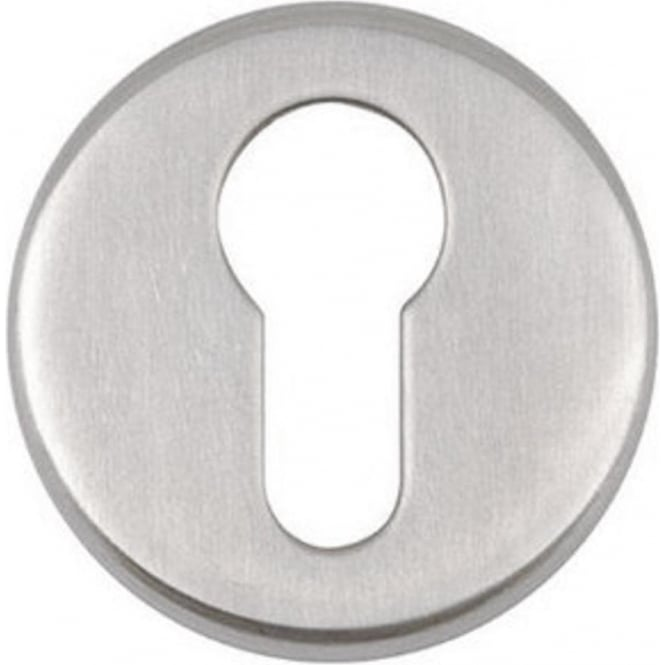 Euro JPS02 Polished Stainless Steel Round Key Escutcheon
