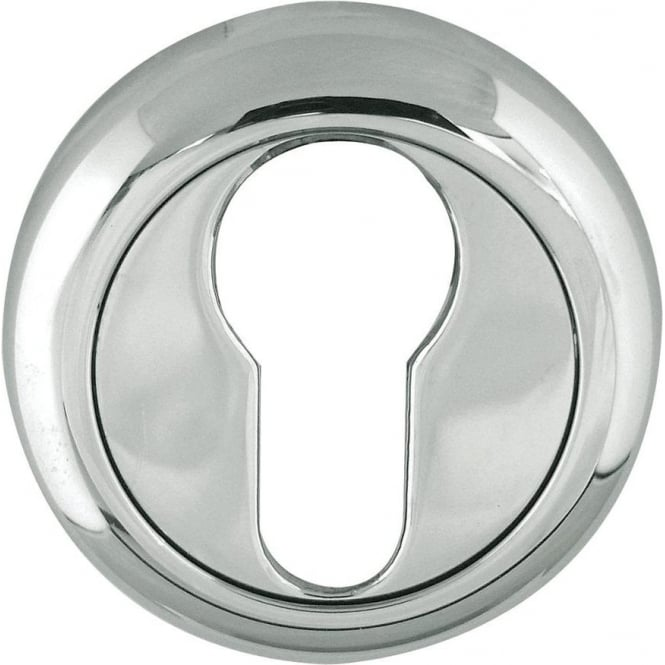 Frelan Hardware Euro Polished Chrome Round Key Escutcheon (JV703PC)