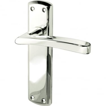 Genoa Polished Chrome Lever Latch On Backplate Handle (JV405PC)