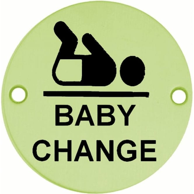 JS107PB Polished Brass Baby Change Pictogram Disc