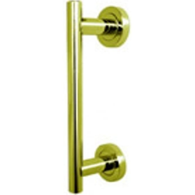 Frelan Hardware JV51PB Polished Brass Pull Handle On Rose