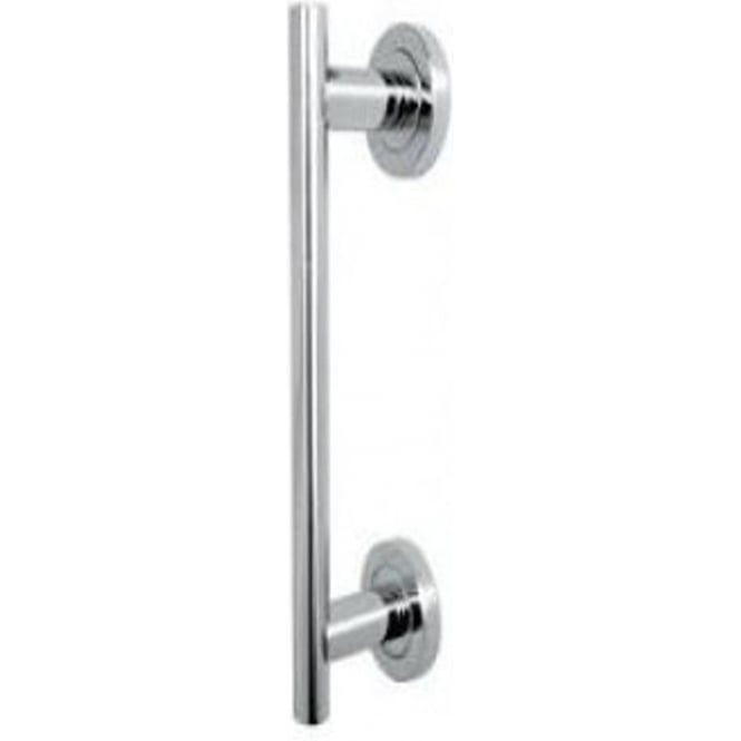 JV51PC Polished Chrome Pull Handle On Rose