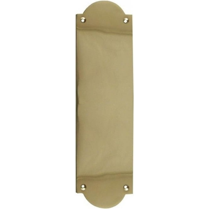 JV54RPB Polished Brass Raised Shaped Fingerplate