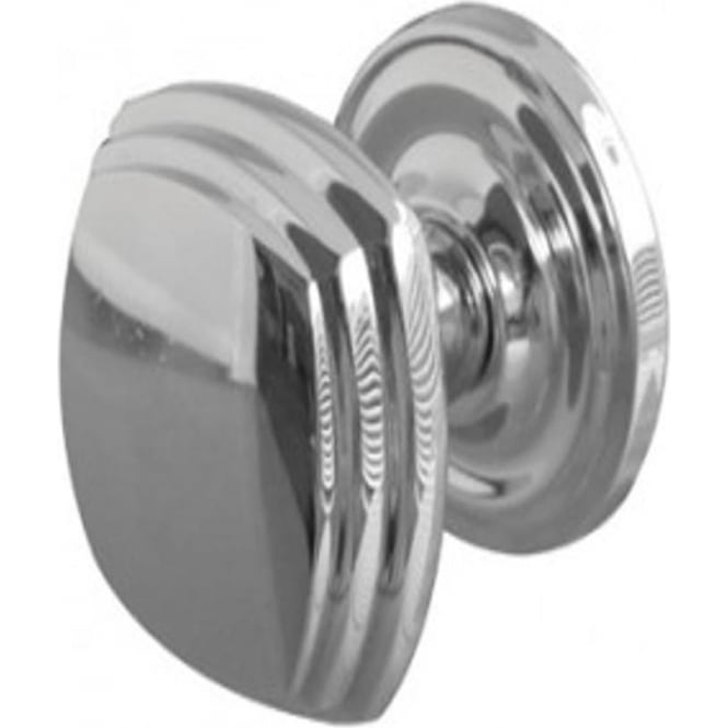 JV64PC Polished Chrome Mortice Knob On Round Rose
