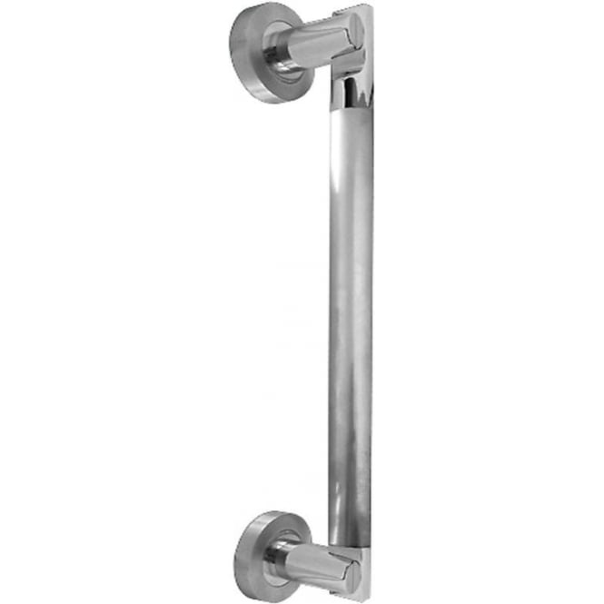 Frelan Hardware JV791 Twin Finish Avantime Pull Handle On Rose (JV791PCSC)