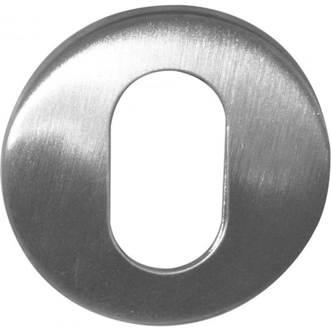 Frelan Hardware Oval Satin Stainless Steel Round Key Escutcheon (JSS17)