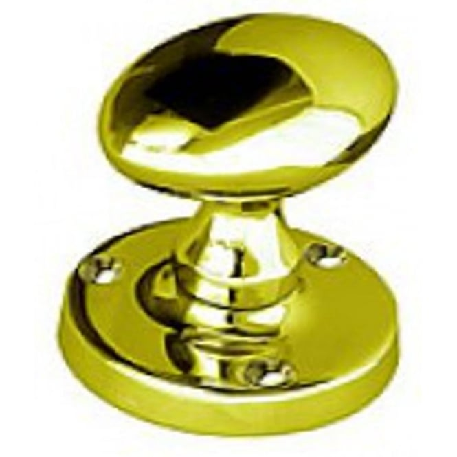 Frelan Hardware Polished Brass Oval Mortice Knob (JV34PB)
