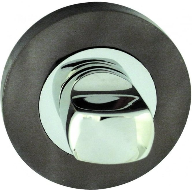 Frelan Hardware Polished Chrome/Black Nickel WC Turn And Release (JV2666PCBN)
