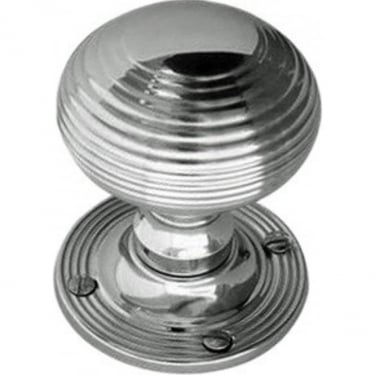 Polished Chrome Reeded Mortice Knob (JR6MPC)