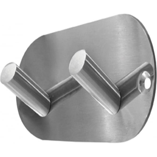 Frelan Hardware Polished Stainless Steel Double Robe Hook (JPS902C)