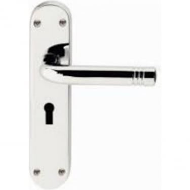 Porto Polished Chrome Lever Lock On Backplate Handle (JV660PC)