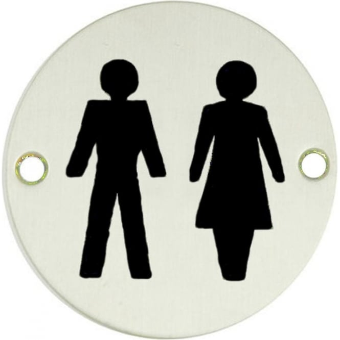 Frelan Hardware Satin Anodised Aluminium Unisex Pictogram Disc (JS105SAA)