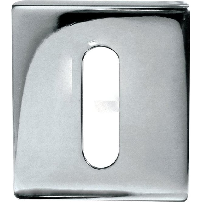 Frelan Hardware Standard Polished Stainless Steel Square Key Escutcheon (JPS10)