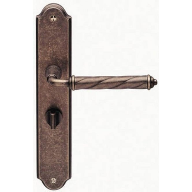 Frelan Hardware Venezia Tin Bathroom Lever On Backplate Handle (JV580BT)