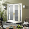 WoodDoor+ Infinity Pre-Finished White External French Doorset