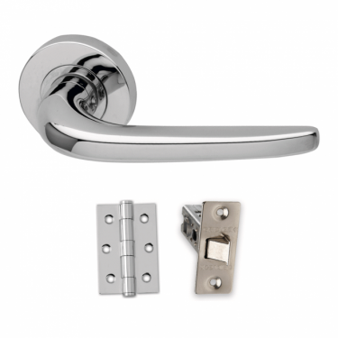 Designer Polished Chrome Olympus PCP Door Handle Pack (OLY.09.PCP)