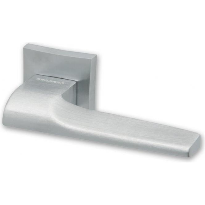 Intelligent Hardware Lucca Satin Chrome Lever On Square Rose