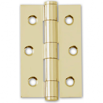 Intelligent Hardware Polished Electro Brassed 75mm Button Tipped Hinge