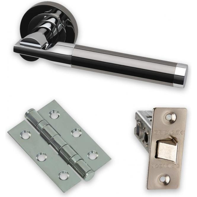 Intelligent Hardware Premium Black Nickel Turquoise PCP/BNP Door Handle Pack (TUR.09.PCP/BNP)