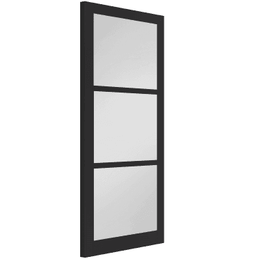 Internal Black Fully Finished Industrial Baker 3L 80mm Stile Door with Clear Glass (WK6306-RAL9017)