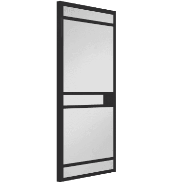 Internal Black Fully Finished Industrial Carnaby 5L 50mm Stile Door with Clear Glass (WK6332-RAL9017)