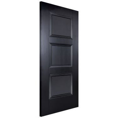 Internal Black Primed Amsterdam FD30 Fire Door (AMSBLAFC)