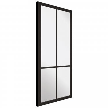 Internal Black Primed Industrial Style Liberty 4L Door with Clear Glass (LIBBLA)