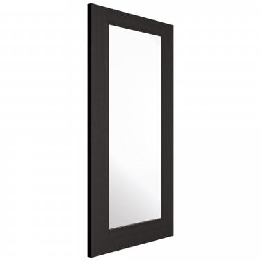 Internal Charcoal Black Fully Finished Diez 1L Door with Clear Glass and Raised Mouldings (DIEBLA)