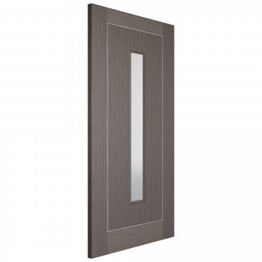 Internal Chocolate Grey Fully Finished Inlay 1L Door with Clear Glass (CHGINLAYGL)