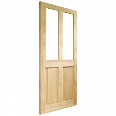 Internal Clear Pine Unfinished Victorian 2L Door With Clear Glass (GCPVIC)