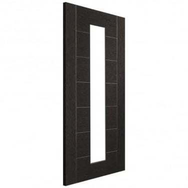 Internal Dark Grey Fully Finished Palermo 1L Door with Clear Glass (PFGDGPAL1L)
