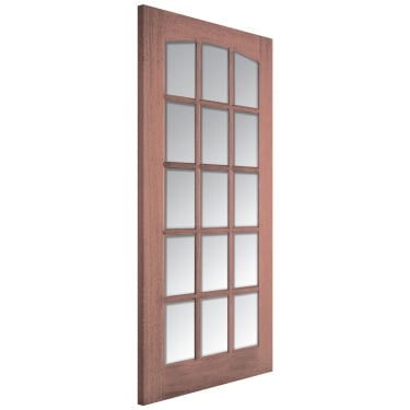 Internal Hardwood Unfinished Imperial 15L Door with Clear Bevelled Glass (IMPCG)
