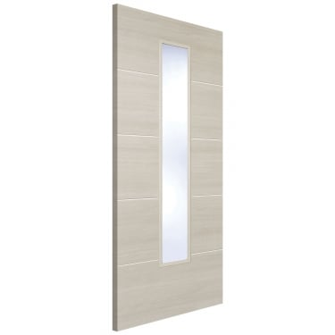 Internal Ivory Fully Finished Laminate Santandor 1L Door with Clear Glass (LAMIVOSANGL)