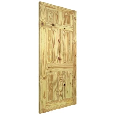 Internal Knotty Pine Unfinished 6P Door (PIN6P)