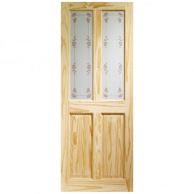 XL Joinery Internal Knotty Pine Victorian with Bluebell Glass Door