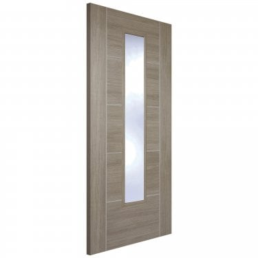 Internal Light Grey Fully Finished Laminate Vancouver 1L Door with Clear Glass (LAMLGRVANGL)