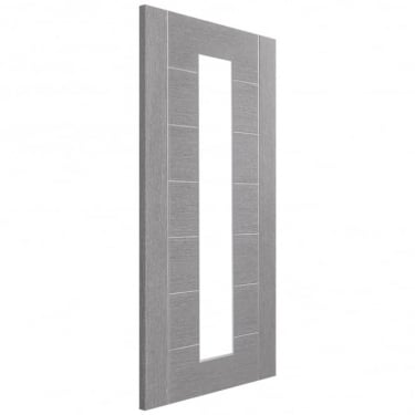 Internal Light Grey Fully Finished Palermo 1L Door with Clear Glass (PFGLGPAL1L)