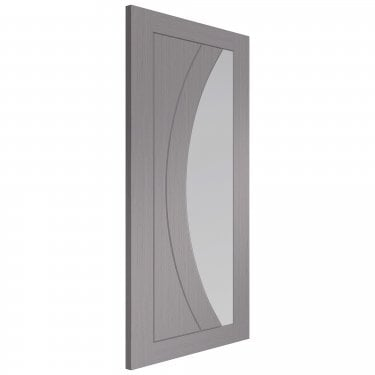 Internal Light Grey Fully Finished Salerno 1L Door with Clear Glass (PFGLGSAL)